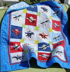 Applique Airplane Baby Quilt Pattern PDF 1103 - 3 Sizes. $5.75, via Etsy.