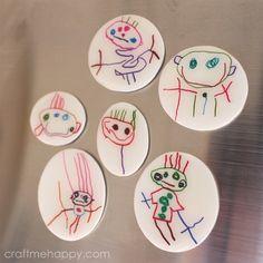 Shrink Plastic Fridge Magnets