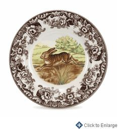 Woodland Rabbit Dinner Plate 10.5 in.