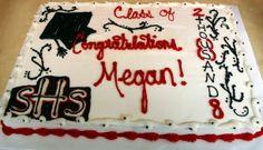 "2008 Graduation Full Sheet Cake - 15x22 WASC with Almond ""buttercream"" For a high school graduation"