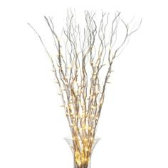 Such and elegant look for season.  Lighted Branches - Silver from Z Gallerie