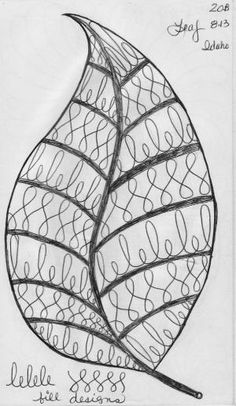 LuAnn Kessi: Sketch Book.....Leaf Designs 4 by Hercio Dias