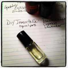 Better Vision, Fewer Wrinkles With DIY Immortelle Blend.   1 part Frankincense  1 part Cypress  1 part Lavender  For ease of use, add equal parts to a roller bottle and dab on facial bones surrounding the eyes morning and night.  Careful not to get too close!