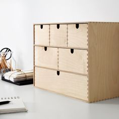 Buy IKEA MOPPE Mini chest of drawers Birch plywood. Helps you organise everything from paper, USB sticks and rechargers to make-up and accessories. Small Storage, Craft Storage, Storage Chest, Storage Organization, Ikea Makeup Storage, Ikea Storage Boxes, Kitchen Organisation, Studio Organization, Cube Storage