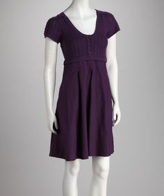 Take a look at this Purple Button Dress on zulily today!