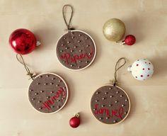 custom hoop art ornament set