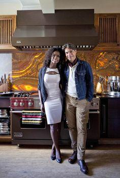 O lar da atriz Adriana Alves e do chef Olivier Anquier