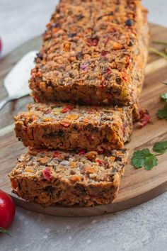 Bring this easy vegan lentil loaf to the table for Christmas or Thanksgiving! Flavourful and packed full of vegetables this healthy recipe will impress vegans and non-vegans alike. Gluten-free oil-free and nut-free. Lentil Recipes, Vegan Recipes Easy, Veggie Recipes, Whole Food Recipes, Vegetarian Recipes, Dessert Recipes, Cooking Recipes, Free Recipes, Veggie Dishes