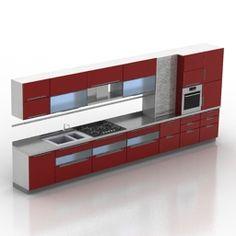 3D Model Kitchen | Category: Kitchen Furniture