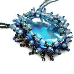 Valentines Sale Necklace Deep Blue by FruttiTuttiBeadCandy on Etsy, £28.00