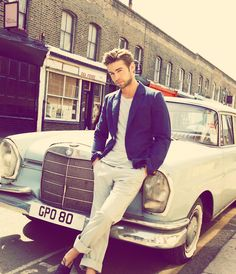 Chace Crawford, Men's style, Rolled up chinos, neutrals worn with a blue blazer, smart casuals.