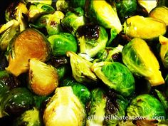Crisped Oven Roasted Brussel Sprouts--  These oven roasted brussel sprouts are one of my true veggie loves.  They come out crispy on the outside and bursting with flavor.  All you need are a few simple ingredients and some love to have a delicious and healthy side dish or snack.  I like to make a huge batch so that there are leftovers I can snack on throughout the week.  And this dish is PERFECT for the holiday season as a side to pretty much any main dish you are preparing!