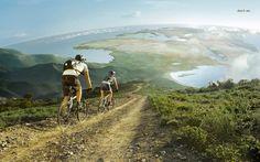 mountain biking ocean