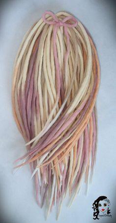 "Wool Dreadlocks Dreads "" Candy Pastels "" 40 DE by SuperDreads on Etsy https://www.etsy.com/listing/226528400/wool-dreadlocks-dreads-candy-pastels-40"