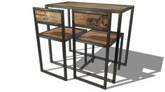 set table chaise MANUFACTURE, Maisons du monde. Réf: 122210 prix 199€ - 3D Warehouse