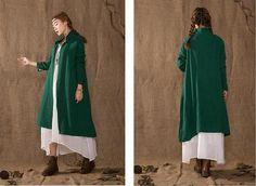 Women Cotton Cardigan Coat