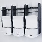 Large Folding Chair Rack | Wayfair.com - great for storing those folding chairs!