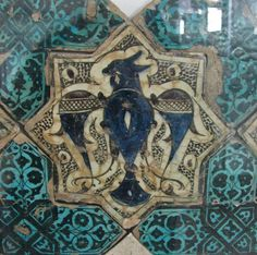 Tile mosaics from the Kubad Abad Palace, built The palace was built for Kayqubad I, a Seljuk Sultan of Rûm. Bird Stand, Oriental, Ancient Persian, Ancient Near East, Persian Culture, Antique Tiles, Iron Work, Panel Wall Art, Ceramic Design