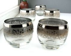Set of Five Mid Century Roly Poly Glasses Mad Men by Retroburgh, $29.99