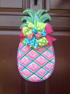 Pineapple Door Hanger/The Gilded Polka Dot by TheGildedPolkaDot