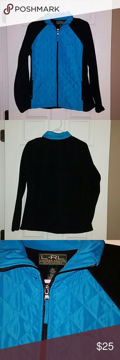 Ralph Lauren Active fleece and quilted jacket Turquoise blue color quilted nylon front with black  fleece sleeves and back. See listing for matching long sleeve t Ralph Lauren Jackets & Coats