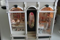 Miniature filled bakery shadow box with light. $575.00, via Etsy.