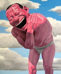 Yue Minjun, 'Blue Sky and White Clouds', 2012, Galerie Daniel Templon
