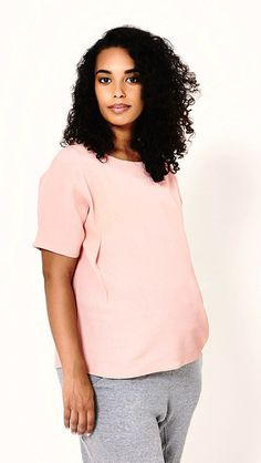 The Maternity Shift Top Maternity Style, Maternity Fashion, T Shirts For Women, Tees, Pink, Collection, T Shirts, Maternity Styles, Pregnancy Fashion
