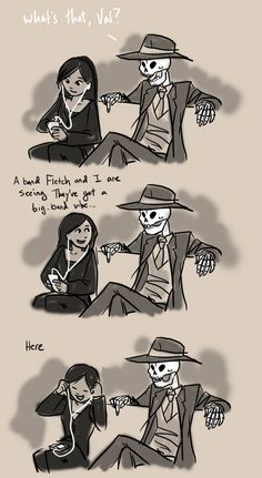Sorry about the long post. and that only people who've read Skulduggery Pleasant past book 5 will get the joke. Still, it's kinda sweet :) The idea came to me the other day so I whipped it up. Skulduggery Pleasant, Detective, Daughter Of Smoke And Bone, The Best Series Ever, Acquired Taste, Fall Out Boy, Artsy, Fan Art, Greenday