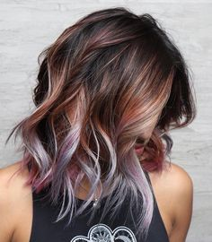 the trendy colors for summer 2019 summer hair color trends summer hair + # hair color trends … - Best HairStyles For All Ombre Hair Color, Hair Color Balayage, Cool Hair Color, Brown Hair Colors, Purple Hair, Hair Highlights, New Hair Colors, Color For Long Hair, What Hair Color Is Best For Me