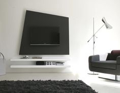 Unique Design Wood TV Stand Wall System Furniture by Delfinetti and Bernasconi…