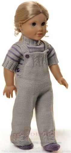 Tricoter des vêtements pour poupée - Joli manteau d'automne et chapeau dans de belles couleurs