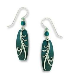 Adajio by Sienna Sky Teal Aqua Puffed Column Earrings 7416 | Amazon.com