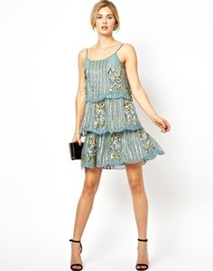 Image 4 ofFrock and Frill Embellished Cami Shift Dress
