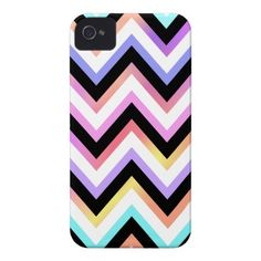 Multi Pastel Chevron iPhone 4 Case