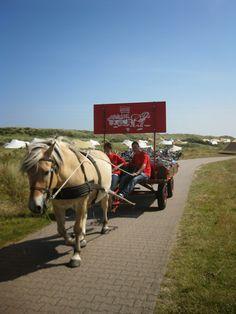 Bagage vervoer sietse de boer naar camping stortemelk op vlieland