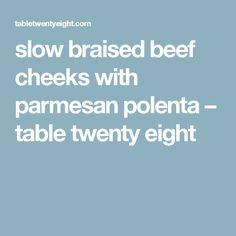 slow braised beef cheeks with parmesan polenta – table twenty eight