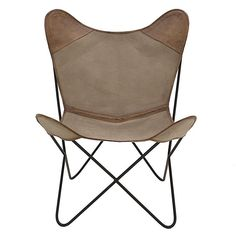 FABRIC/LEATHER CHAIR IN BEIGE COLOR 75X87X86 - Chairs - FURNITURE