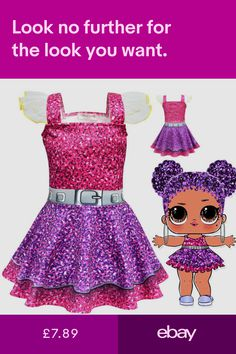 lol surprise dolls Game Girl Dresses skirts cosplay Costume party fancy dress up Childrens Halloween Costumes, Kids Costumes Girls, Halloween Costumes For Girls, Kids Outfits Girls, Girl Costumes, Kids Girls, Girl Outfits, Girls Dresses, Halloween Cosplay