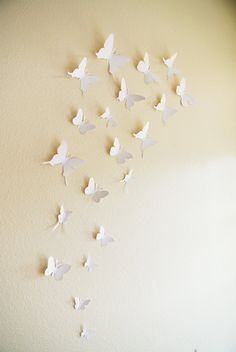 15 3D Paper Butterflies 3D Butterfly Wall Art by SimplyChicLily, $25.00