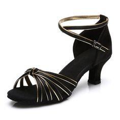 online store 08cea 7206f New Salsa ② Brand tango women heeled satin girls dancing ballroom ᗖ latin  shoes ladies and black gold New Salsa Brand tango women heeled satin girls  ...