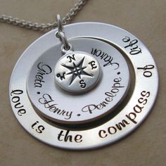Love Is The Compass Of Life Personalized Necklace