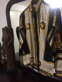 523b4e59a Versace Shirt 'Size Eu. 2XL' ( Vintage Barocco Line!! Must See!!) –  OmarsHighEndStore.com
