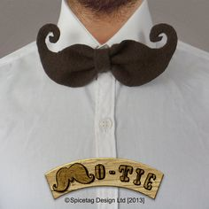 The Mo Tie 006 The Saloon Fashion Accessory Nerdy Bow by Spicetag, £5.00