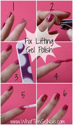Fix lifting gel polish in just 5 steps. Plus more tips and tricks for gel polish lifting.