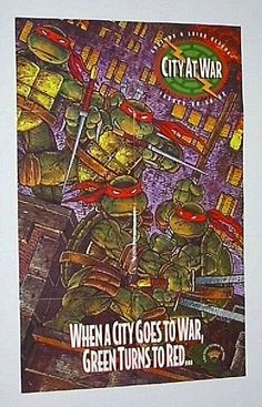 Rare 1993 Teenage Mutant Ninja Turtles TMNT 34 x 22 comic book shop dealer's promotional promo poster 1: Never for sale to the public/1990's