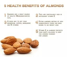 5 Health Benefits of Almonds I always try to replace peanut butter with almond butter! If your enjoying our pins why not come and visit our site where you'll find much more smoothie info. Health Benefits Of Almonds, Almond Benefits, Matcha Benefits, Coconut Health Benefits, Fruit Benefits, Healthy Recipes, Get Healthy, Healthy Tips, Healthy Snacks