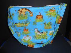 Handmade Diaper bag  Safari jungle animals print   by MadkDesigns, $21.99