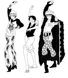 Luffy, Law and Kid