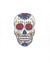 Easy Halloween Decor: Free Sugar Skull Printable | Hello Little Home…